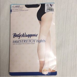 Black Body Wrappers Convertible Tights